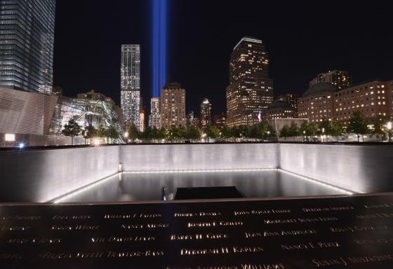 The September 11th memorial, New York City. In the second part of his review, Hodge reflects on the shift in development scholarship post 9/11. (Photo by Jin Lee, 2012).