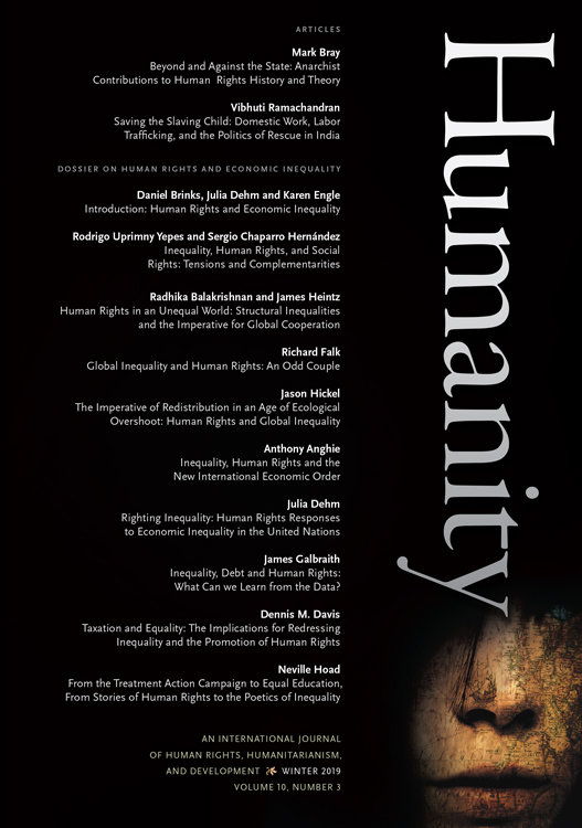 The front cover of Humanity issue 10.3