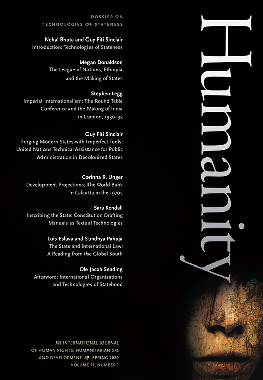 The cover of Humanity issue 11.1.